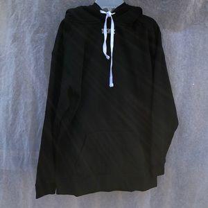 PINK VS Sweat Shirt Sherpa Lined Hood Sz Small